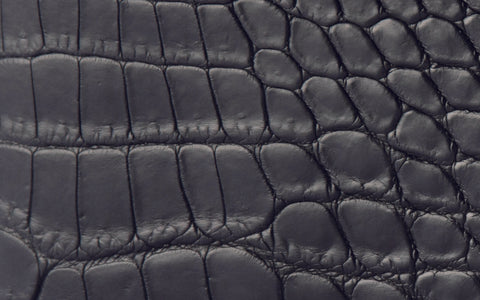 LIN8 genuine matte noir black Nile crocodile leather