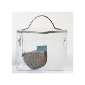 LIN8 buy, shop, design, create, personalise your own Clear PVC bag that is waterproof, water resistant. Protect your bag, handbag, purse, clutch from the rain. Great birthday, Valentine's present, gift for him, her under $100