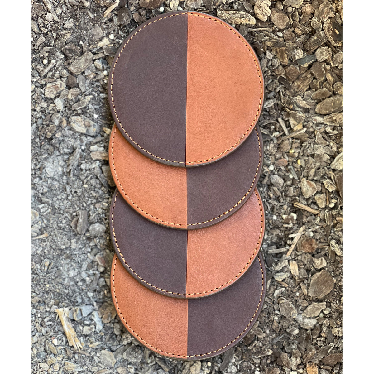 928 leather coasters
