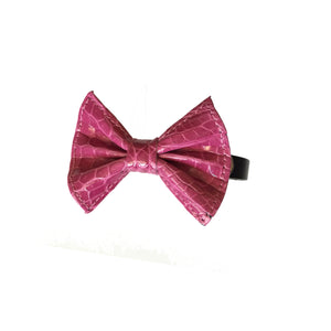 LIN8 Australia's bespoke unique luxury genuine exotic crocodile leather pet,dog bow tie collar