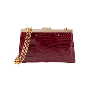 LIN8 Australia's crafted luxury exotic crocodile women's clutch seen with Crown Princess Mary of Denmark