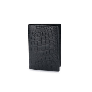 L I N 8 genuine Australian designer exotic crocodile leather passport cover holder