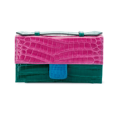 LIN8 luxury exotic nile crocodile leather clutch purse
