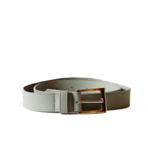 LIN8 unisex taurillon, togo leather belt with buckle made in Italy. Customise, create, design, personalise your own today. Minimal belt strap for men and women.