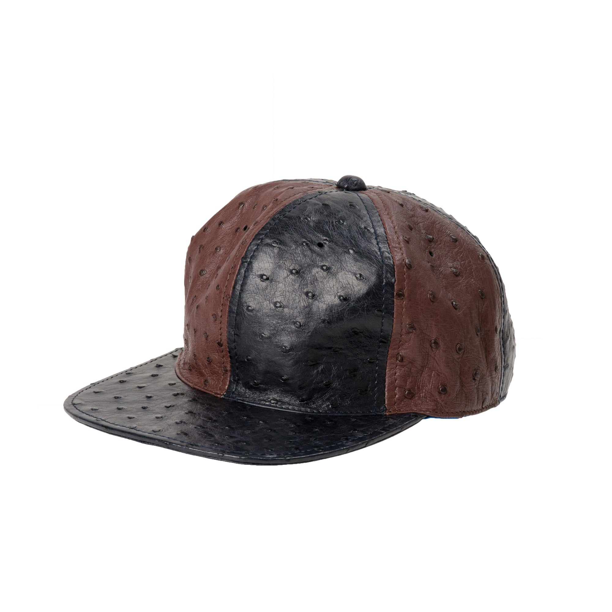 L I N 8 exotic ostrich leather hat, snapback, cap