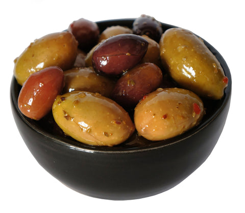 Mixed Olives with Chilli and Garlic 200g