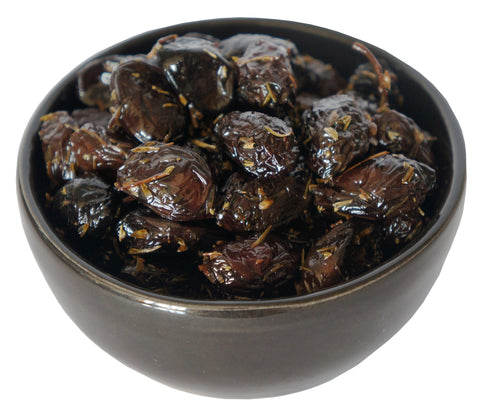 Organic Black Date Olives with Thyme