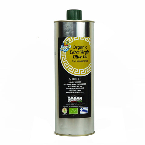 Organic Extra Virgin Olive Oil from Manaki Olives