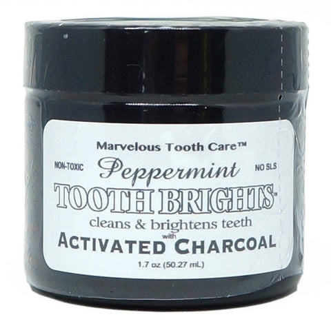 Tooth Brights with Activated Charcoal - Peppermint