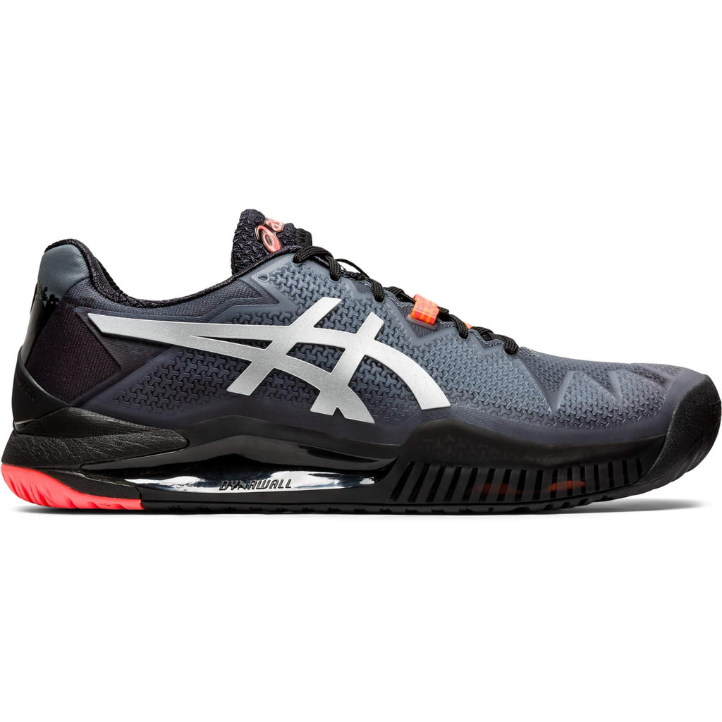 Asics Gel Resolution 8 Limited Edition Future Tokyo Black/Sunrise Red Men's Tennis Shoes - Side