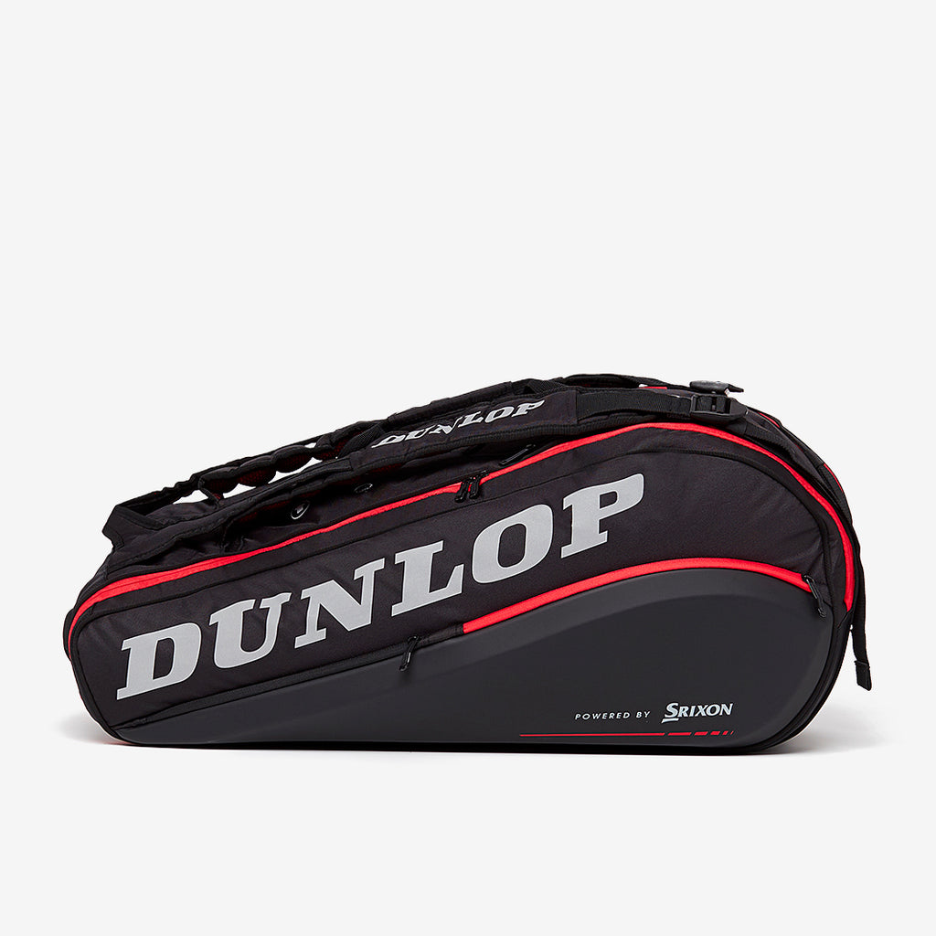 Dunlop Tac CX Performance Thermo 9 Racquet Bag (Black/Red) - Side