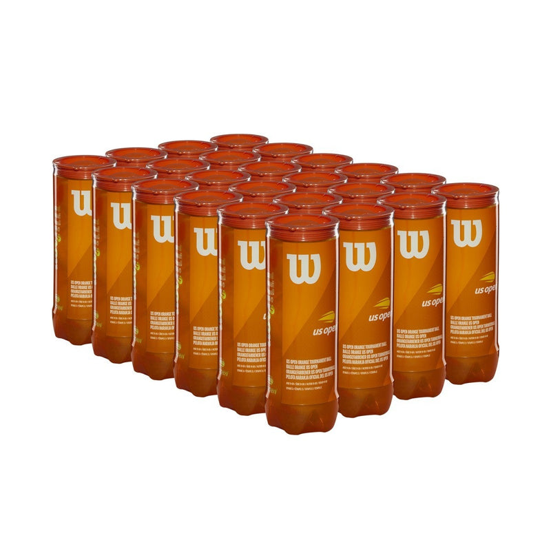 Wilson US Open Tournament Orange Tennis Ball 24 Cans (72 Balls) Ball