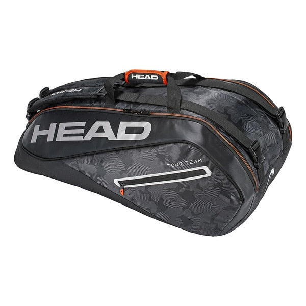 HEAD Tour Team 9R Supercombi Tennis Bag - Black/Silver