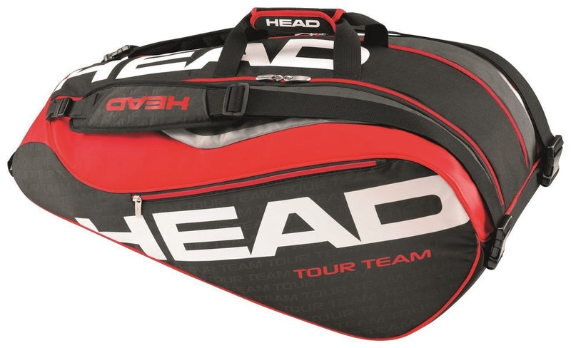 HEAD Tour Team 9R Supercombi Tennis Bag - Black/Red