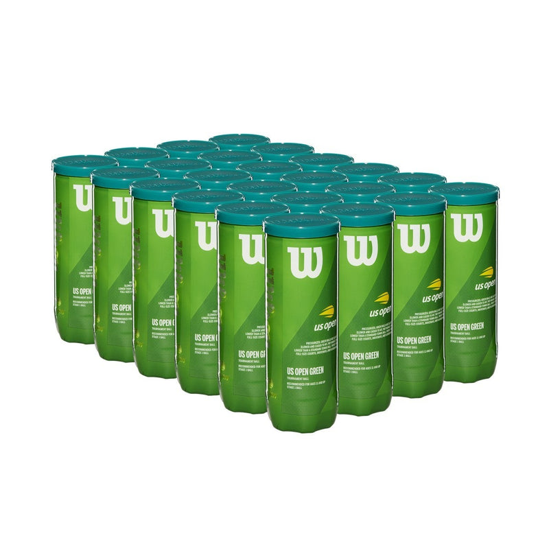 Wilson US Open Green Tournament Transition Tennis Ball (24 Cans)