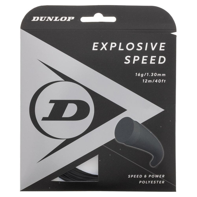 Dunlop Explosive Speed 16G Tennis String Set Black