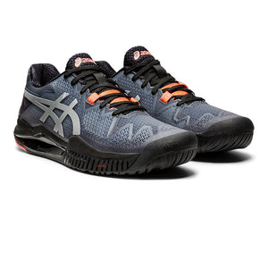 Asics Gel Resolution 8 Limited Edition Future Tokyo Black/Sunrise Red Men's Tennis Shoes - Front