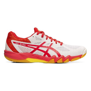 Asics Gel Blade 7 White Laser Pink Womens Indoor Court Shoes