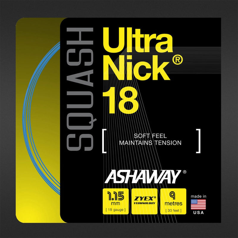 Ashaway UltraNick 18 30' Set Squash String Blue
