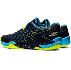 Asics Mens Blast FF 2 Peacoat / Safety Yellow Indoor Court Shoes Back
