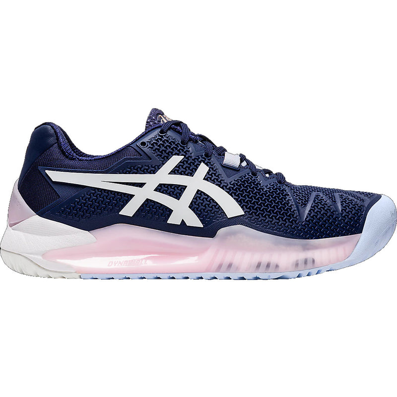 Asics Gel-Resolution 8 Peacoat / White Women's Tennis Shoes - Outsole
