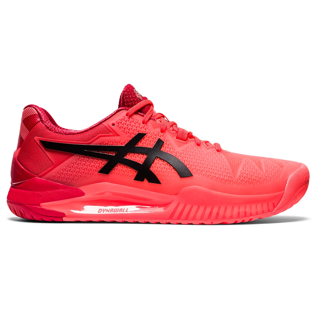 Asics Gel Resolution 8 Tokyo Sunrise Red/Eclipse Black Men's Tennis Shoes