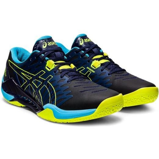 Asics Mens Blast FF 2 Peacoat / Safety Yellow Indoor Court Shoes