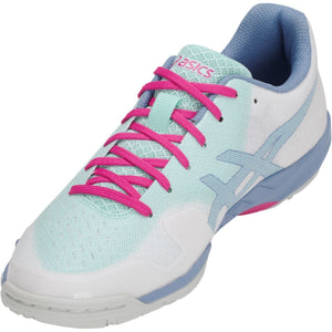 Asics GEL-Blade 6 White/Icy Morning Women's  Indoor Court Shoes