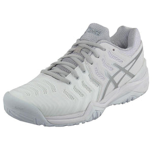 Asics Gel Resolution 7 White /Silver Men's Tennis Shoes
