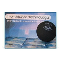 Black Knight TRU Bounce Double Yellow Dot Squash Ball
