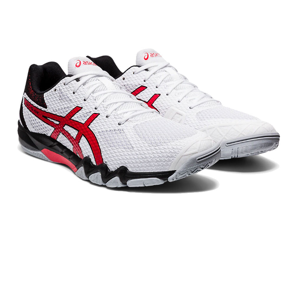 Asics Gel-Blade 7 White/Classic Red