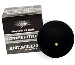 Dunlop Competition Single Yellow Dot Squash Ball