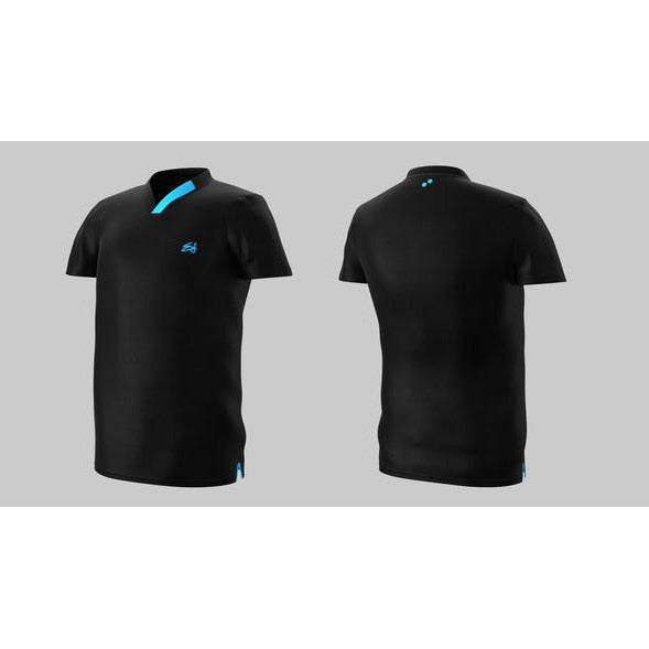 Eye Performance Line V-Neck Mens Shirt Black with Blue