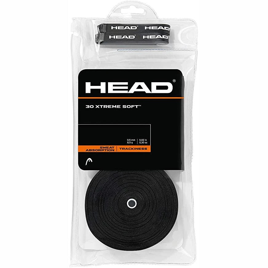 Head Xtreme Soft 30-Pack Black Overgrips