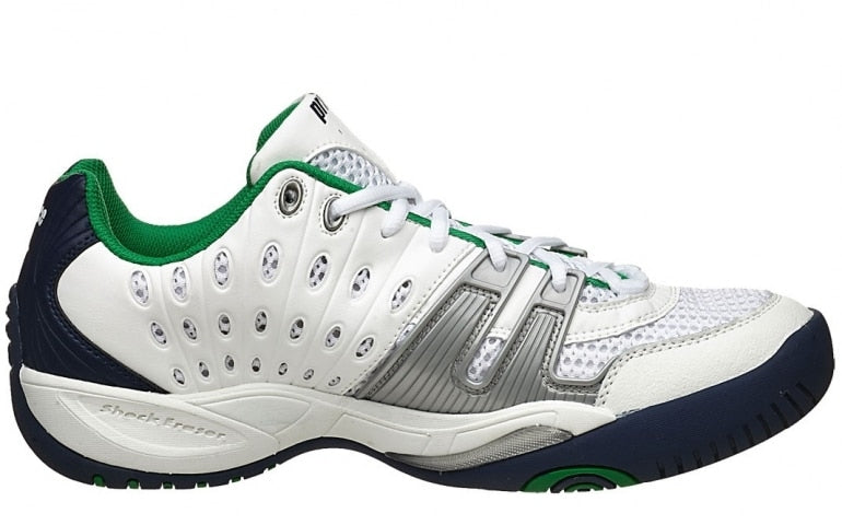 Prince T22 White Navy Green Tennis Shoes