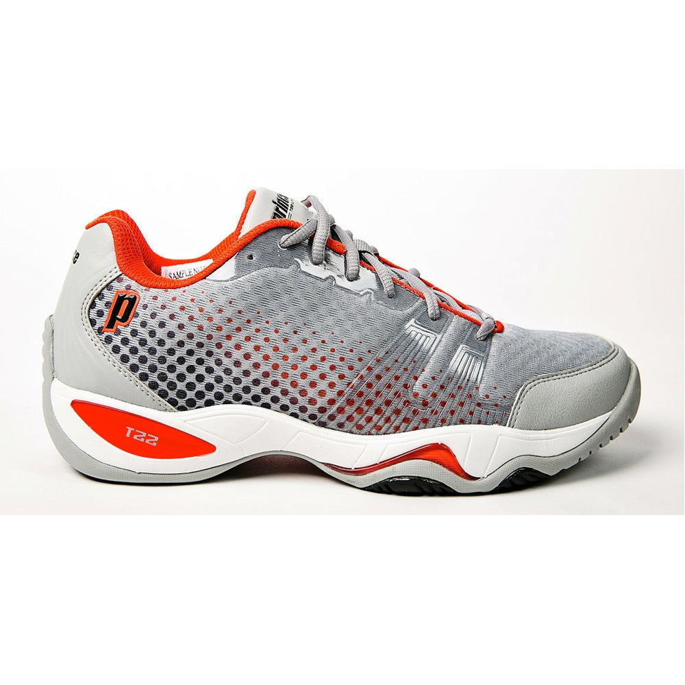 Prince T22 Lite Grey Black Red Tennis Shoes