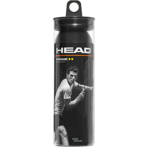 HEAD Prime Double Yellow Squash Ball 3-Ball Tube