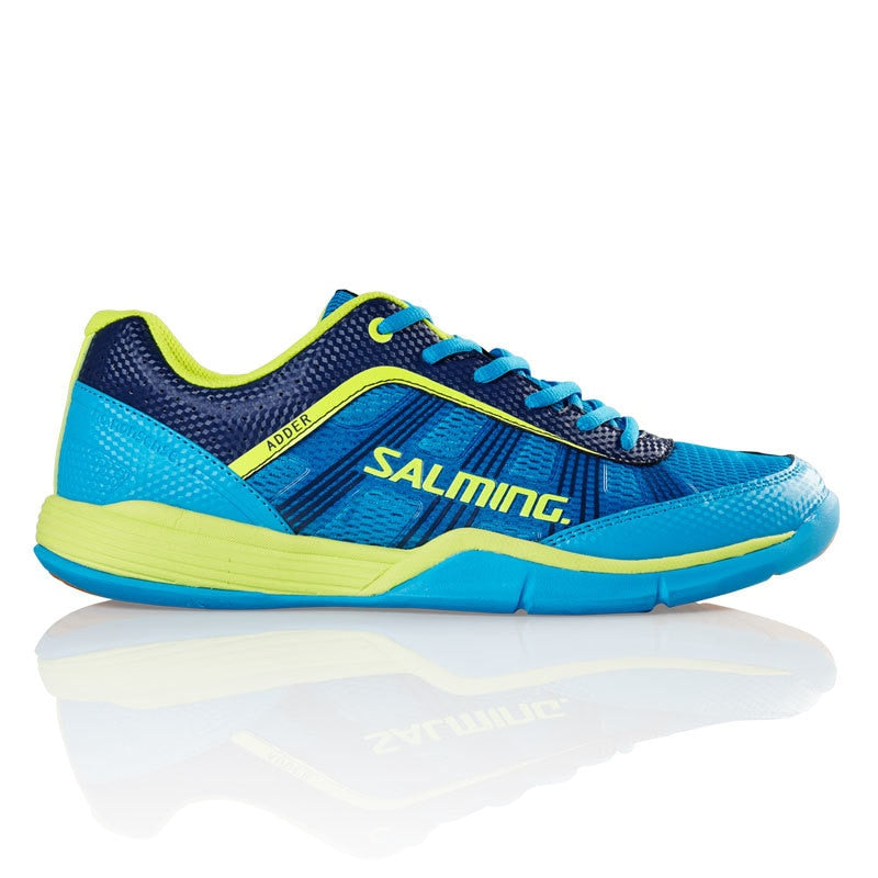 Salming Adder Cyan/Safety Yellow Indoor Court Shoes