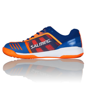 Salming Falco Limoges Blue/Orange Flame Indoor Court Shoes