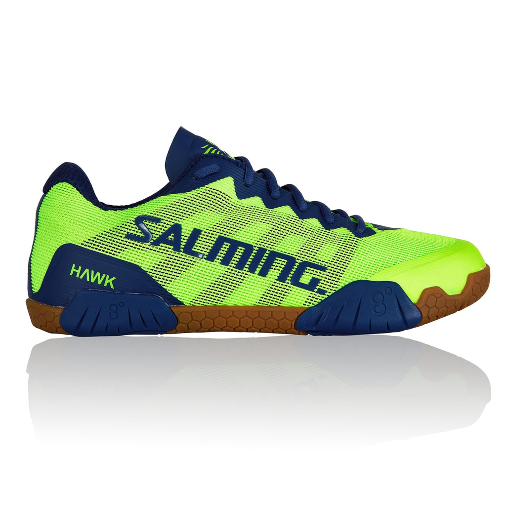 Salming Hawk Fluorescent Green / Limoges Blue Indoor Court Shoes