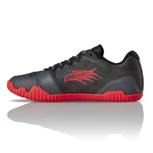 Salming Hawk Gun Metal / Lava Red Men's Indoor Court Shoe