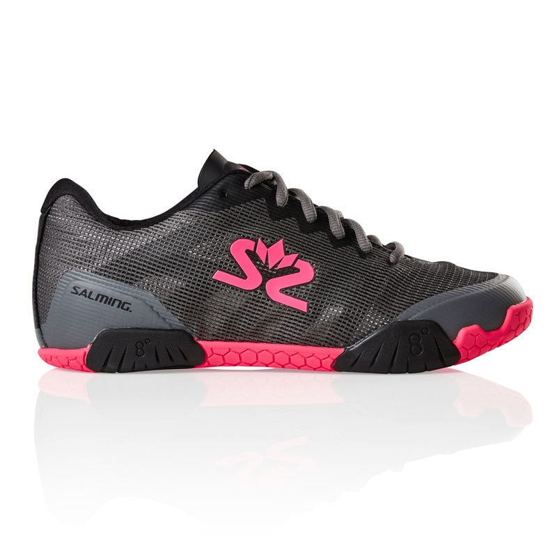 Salming Hawk Gun Metal / Pink Women's Indoor Court Shoes
