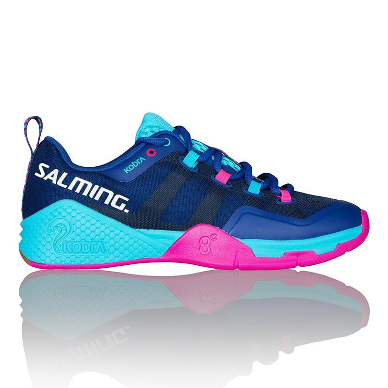 Salming Kobra 2 Limoges Blue/Pink Jewel Women's Indoor Court Shoes