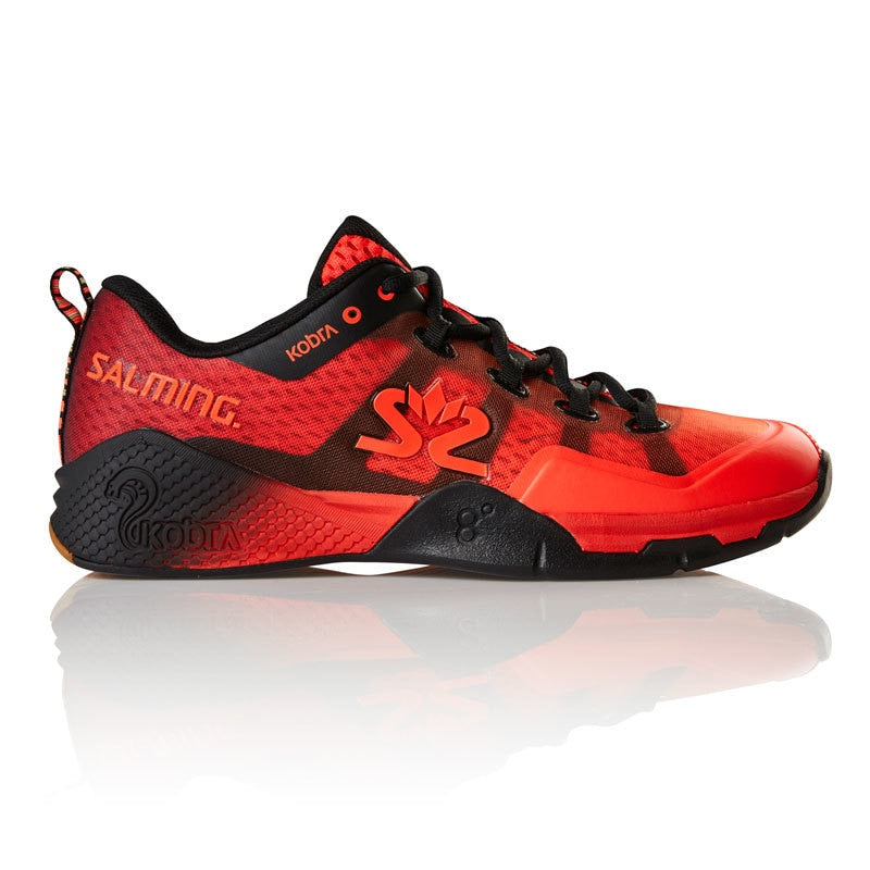 Salming Kobra 2 Lava Red / Black Men's Indoor Court Shoes
