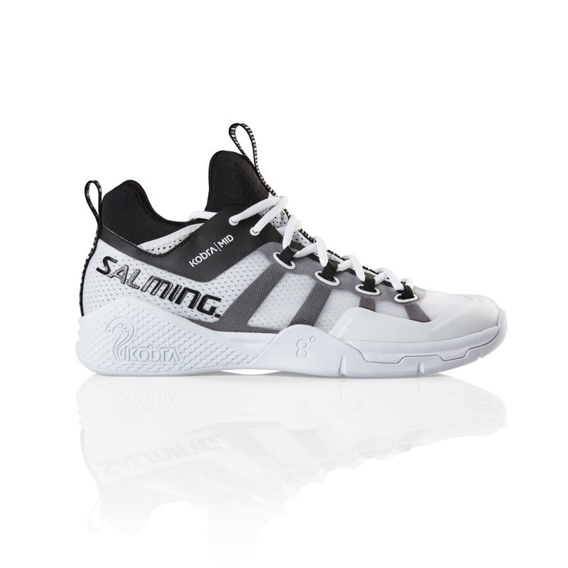 Salming Kobra 2 Mid White / Black Mens Indoor Court Shoes