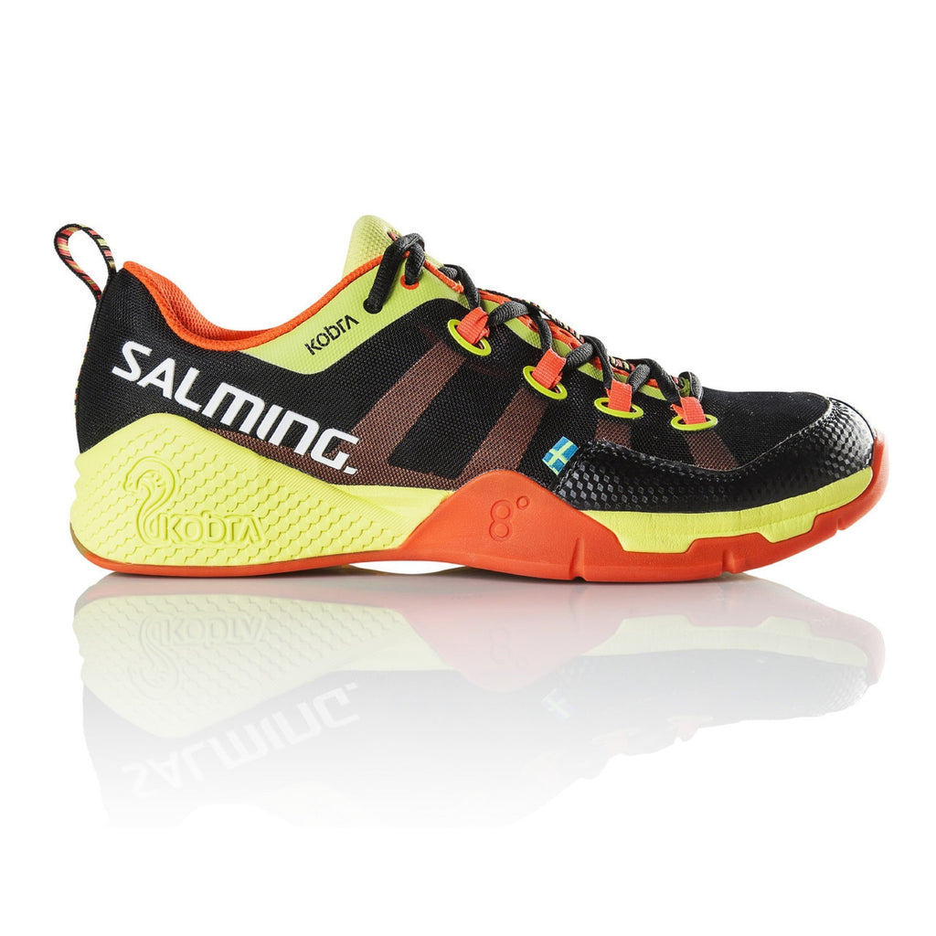 Salming Kobra Black / Shocking Orange Indoor Court Shoes