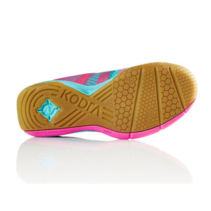 Salming Kobra Turquoise/Pink Indoor Court Shoes