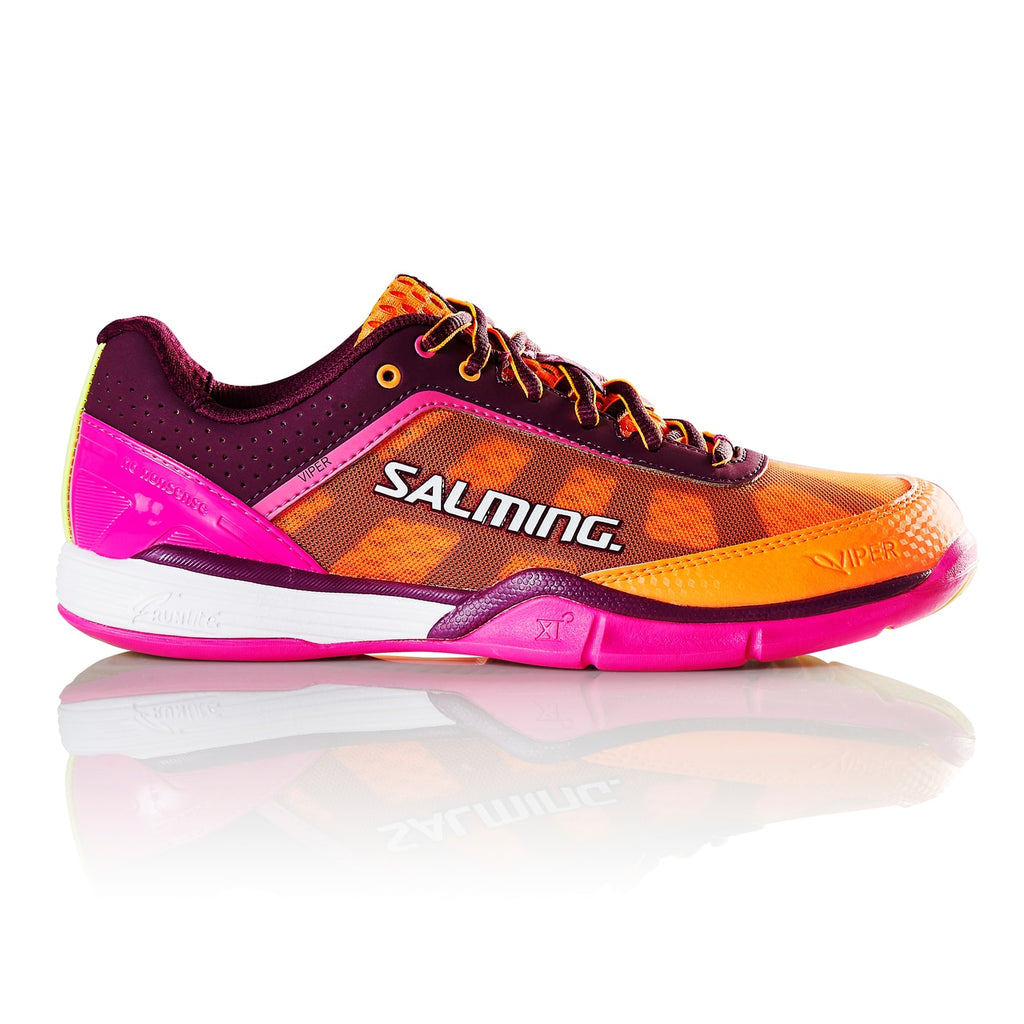 Salming Viper 4 Purple/Orange Women's Indoor Court Shoes