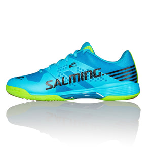 Salming Viper 5 Blue Atol/Flou Green Indoor Court Shoes