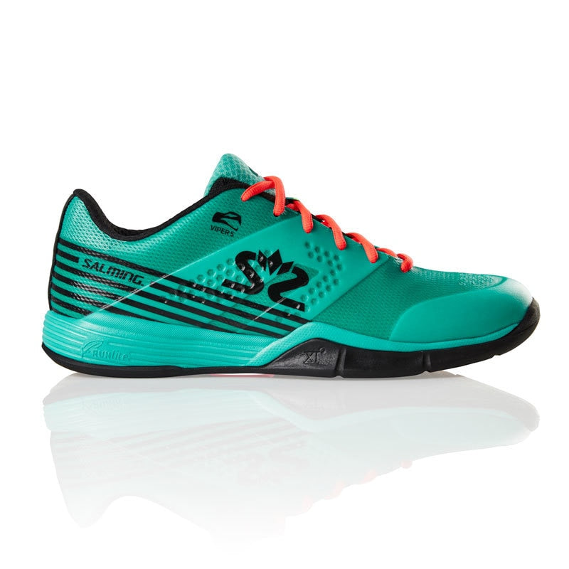 Salming Viper 5 Turquoise / Black Indoor Court Shoes